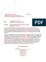 Sample Exectuor Letter Doc