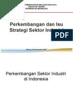 Kuliah 3_Perkembangan Dan Isu Strategi Sektor Industri