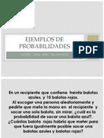 Ejemplos de Probabilidades (1)
