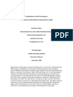 Fisher - Contributions of Social Psychology to the Analysis and Resolution of International Conflict