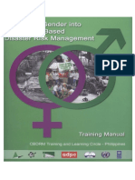 Integrating Gender Into CBDRM Training Manual