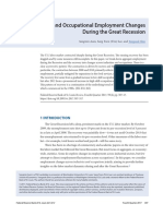 Industrial and Occupational Employment Changes During the Great Recession