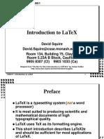 LaTeX Tute 2005