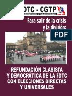 REFUNDACIÓN CLASISTA Y DEMOCRÁTICA DE LA FDTC.
