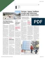 2017 04 22 - La Tercera - El 21% Del Costo Para Evitar Cortes Ha Sido Pagado Por Los Usuarios 2