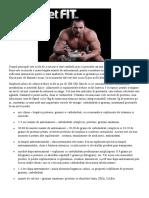 Dieta pentru crestere in masa musculara