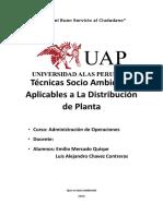 Tecnicas Socioambiental Aplicables a La Distribucion de Planta