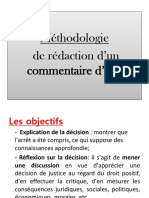 Methodologie Du Commentaire Darret