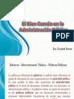 Administración Pública y Bien Común