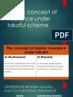 Islamic Concept of Insurance Under Takaful Scheme