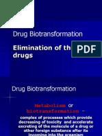 Metabolism of Drugs
