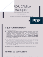 Aula - Prova Documental - Prof. Camila Spmarques 2017- Aula 7