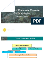 Economic Valuation. Methodologies
