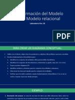 Transformación Del Modelo E-R Al Modelo Relacional