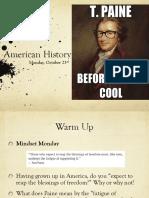 mon oct 23 american history