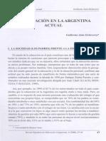 Guillermo Jaim Etcheverri - La Educación en La Argentina Actual