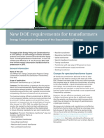 New DOE Requirements for Transformers