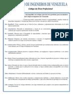 Colegio de Ingenieros de Venezuela - Código de Ética Profesional.pdf