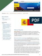 Marca España website