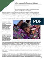 La Discriminación de Los Pueblos Indígenas en México-esglobal