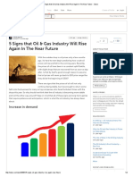 5 Signs That Oil & Gas Industry Will Rise Again in the Near Future - Oilpro