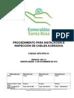 MTO-PRO-01 Procedimiento Para Instalacion e Inspeccion de Cables Acerados