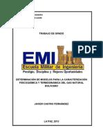 DETERMINACIÓN DE MODELOS PARA LA CARACTERIZACIÓN FISICOQUÍMICA Y TERMODINÁMICA DEL GAS NATURAL BOLIVIANO