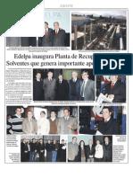 Recuperación de solventes, carbon activado, desorción nitrógeno at EDELPA (DEC IMPIANTI) - inauguración 22.07.2010