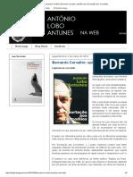 António Lobo Antunes Na Web_ Bernardo Carvalho_ Opinião Sobre Exortação Aos Crocodilos