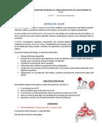 Agenda Taller Inter-Sede 2017
