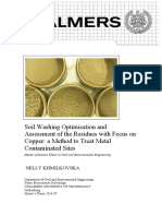 Soil Washing Optimisation and  Assessment of the Residues with Focus on  Copper