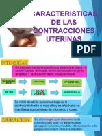 Características de Las Contracciones Uterinas