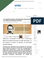 O Trabalho Pioneiro de Eurípedes Barsanulfo Na Visão de Cristiane Pedrosa – ISERJ