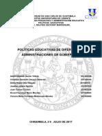 diferentes politicas educativas de gobiernos