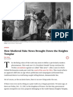 Fake News and the Real Knights Templar