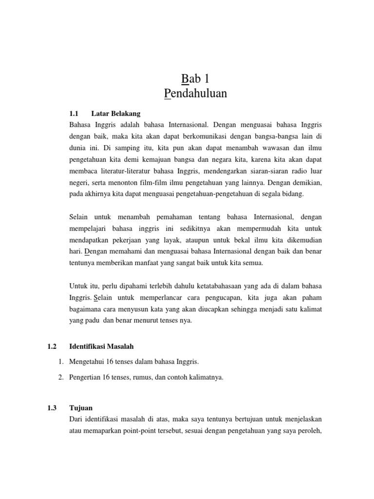 Bab 1 Makalah Tenses