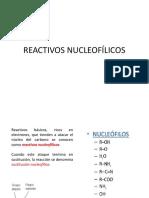 REACTIVOS-NUCLEOFILICOS