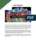 Fake Minerals