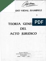 1.- La Teoria General Del Acto Juridico