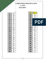 Processo Seletivo Solido 2014 Gabarito 3 Ano Ensin5151942