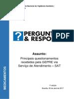 Perguntas e Respostas - Regularidade, Intercambialidade e Pós-registro de Medicamentos Genéricos, Similares e Novos
