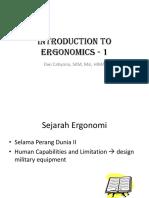 Introduction to Ergonomics - 1