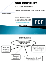 Lecture Note 1- Unit 16 Research Methods for Strategic Managers