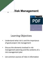Pertemuan 4 Projecr Risk Mgmt