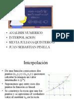 INTERPOLACION - ANALISIS NUMERICO
