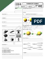 Química - Pré-Vestibular Impacto - Exercícios Extras - Introdução a Química