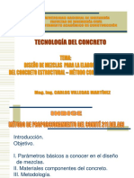 Diseño de Mezcla Metodo Comite 211 Del Aci