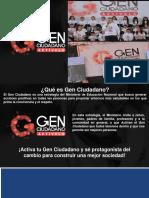 Gen Ciudadano #Generaciónpazcífica
