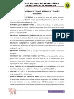 Parámetros Productivos y Reproductivos en Porcinos