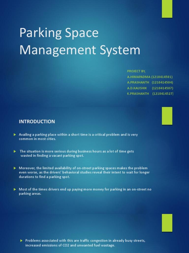 Parking Space Management System | Image Segmentation | Mongo Db